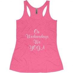 Wednesday We Yoga Pink