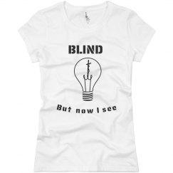 J Girls Blind Tee Lt.Blue