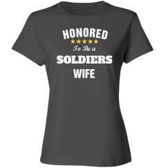 Honored to be soldiers wife