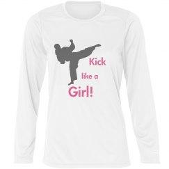 Kick like a girl -LSleeve