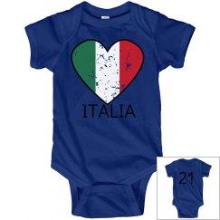 Italia Heart Onesie