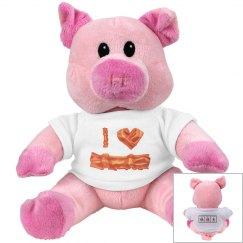 I Heart Bacon Pig