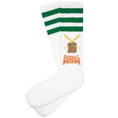 Baseball mom socks