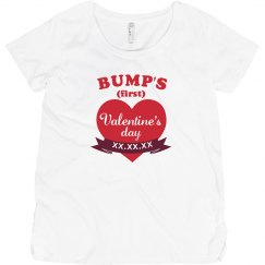 First Valentine's Day Maternity Shirt