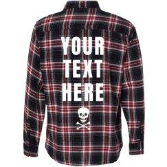 Flannel Text Shirt