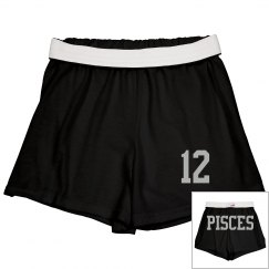 Pisces Sporty Zodiac Cheer Short