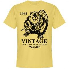 Vintage Beaver Birthday shirt