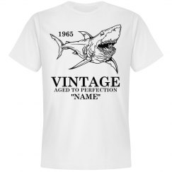Vintage Shark Birthday shirt