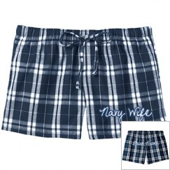 Navy Wife PJ Shorts