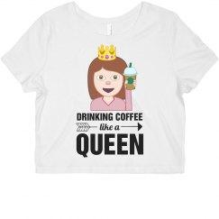 Emoji Coffee Queen