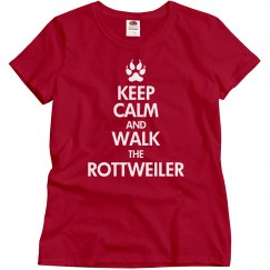 Walk the rottweiler
