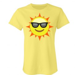 Cool Sun Emoji T-Shirt