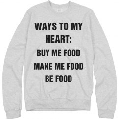 Make Me Food Valentines Sweater