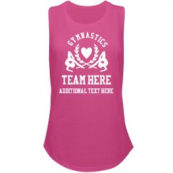 Custom Text Gymnastics Muscle Tank