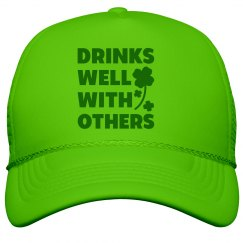 Drinking Green shamrock Peak Cap