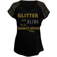 Glitter and Bling Dance Mom