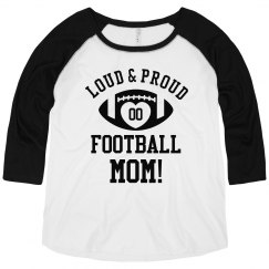 Personalized Football Mom Plus Raglan