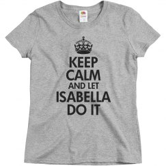 Let Isabella do it