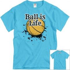 Ball Is Life Blue Tshirt