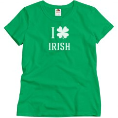 I Heart Irish Maternity Tshirt