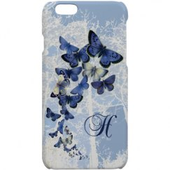 Blue Butterfly Monogramed Case