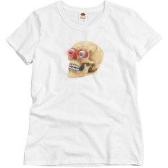 Glowing eyes Zombie Skull TShirt