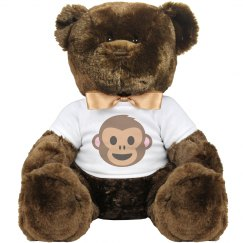 Monkey Face Large Plush Teddy Bear