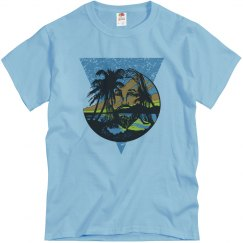 Beach Jesus Men's Tee Blue