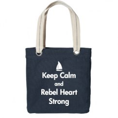 Keep Calm, Tote, Navy