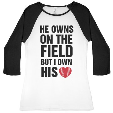 I own his heart baseball shirts for every party for Customize your own baseball shirt