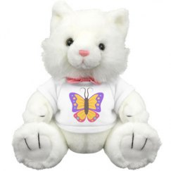Butterfly Medium Plush Kitty Cat