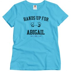 Hands up for Abigail