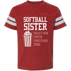 Softball Sister Concession Lover