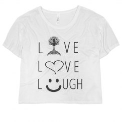 Live Love Laugh at Heart Tree Smiley Girl