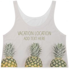 Printed Pineapple Vacation Design