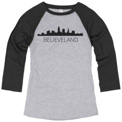 Believeland Skyline Baseball Tee