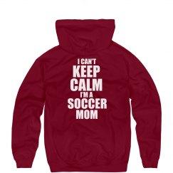 Keep Calm Soccer Mom Hood