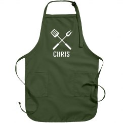 Chris personalized apron