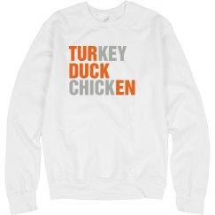 Turducken Text Shirt