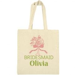 Bridesmaid Floral Tote