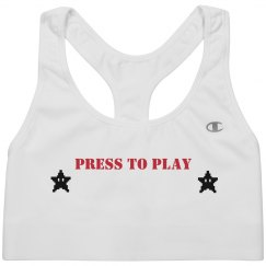Press To Play Sports Bra