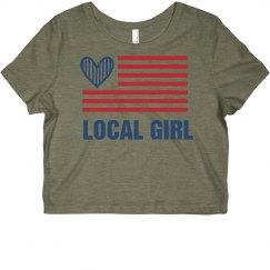 USA Patriotic Local Girl
