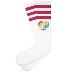 Hillary Rainbow Heart Socks