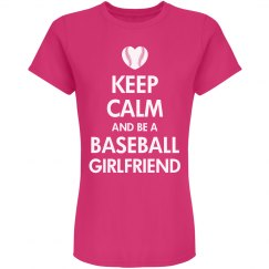 Keep Calm Baseball Girlfriend