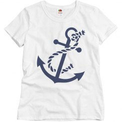 Navy Anchor with Rope