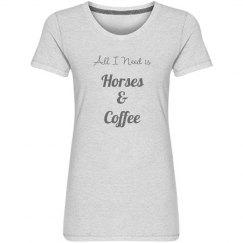 Horses & Coffee Performance Tee