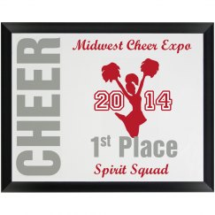 Cheer Plaque
