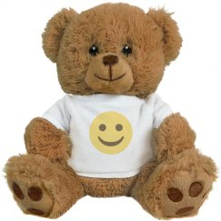 Smiling Face Medium Plush Teddy Bear