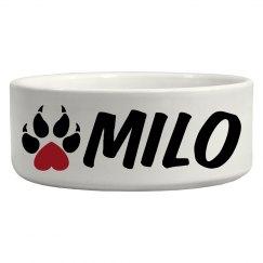 Milo, Dog Bowl