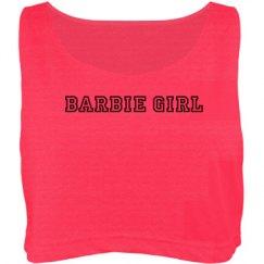 Barbie girl crop tee